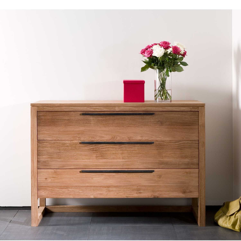 Teak Light Frame Chest of Drawers interiors bedroom