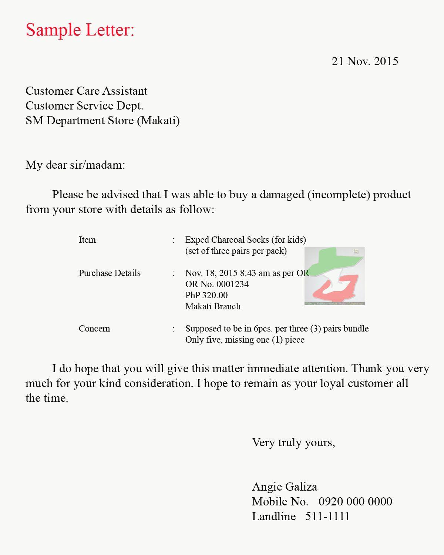 Sample Claim Letter Lost Shipment Complaint Road Transporters
