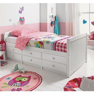 Finn 6 Drawer White Cabin Bed With Elliott Mattress