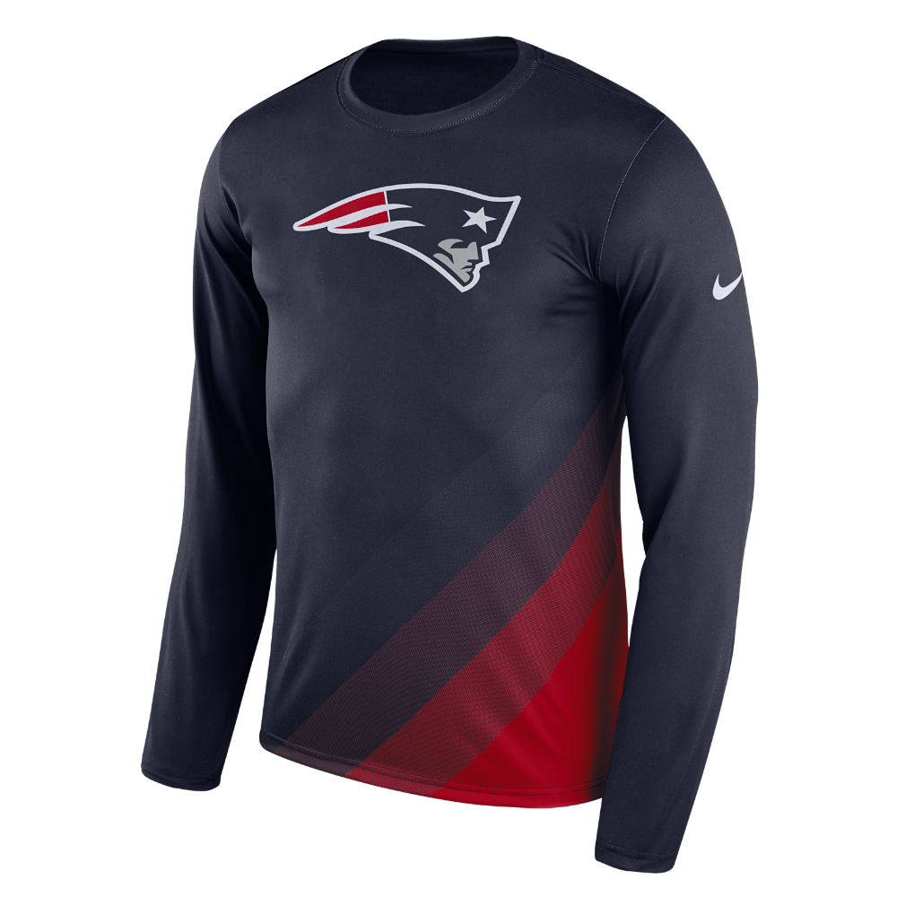 515539a9b Nike Dry Legend Prism (NFL Patriots) Men s Long Sleeve T-Shirt Size Medium  (Blue)