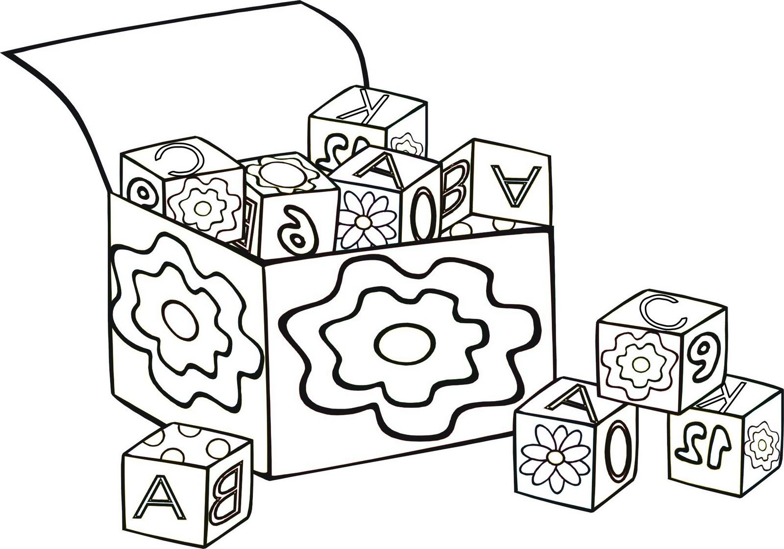10 Fun and Simple Blocks Coloring Pages for Preschool