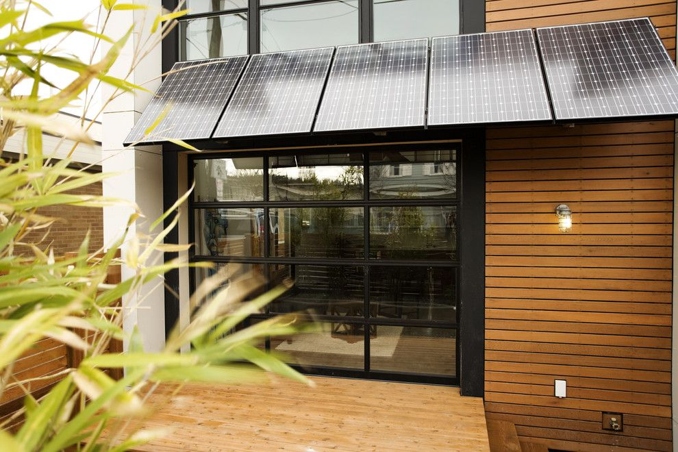 Solar Patio Cover Exterior Modern With Awning Deck Geometric Geometry