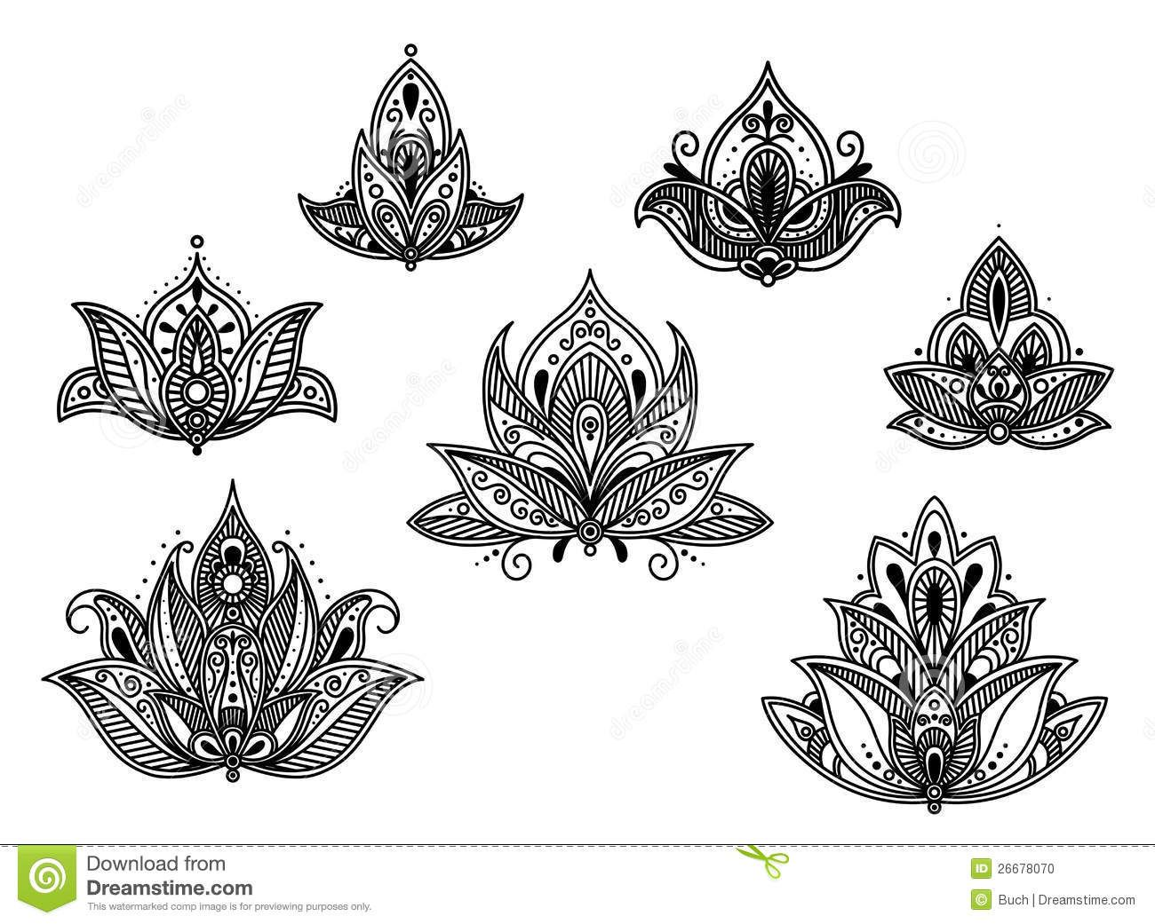 Abstract Persian And Indian Flower Stock Vector