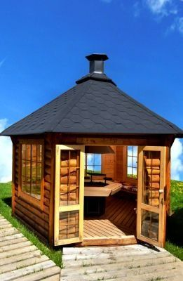 Grillhaus Deluxe Mit 9 2m Grundflache Garden Deco Pinterest