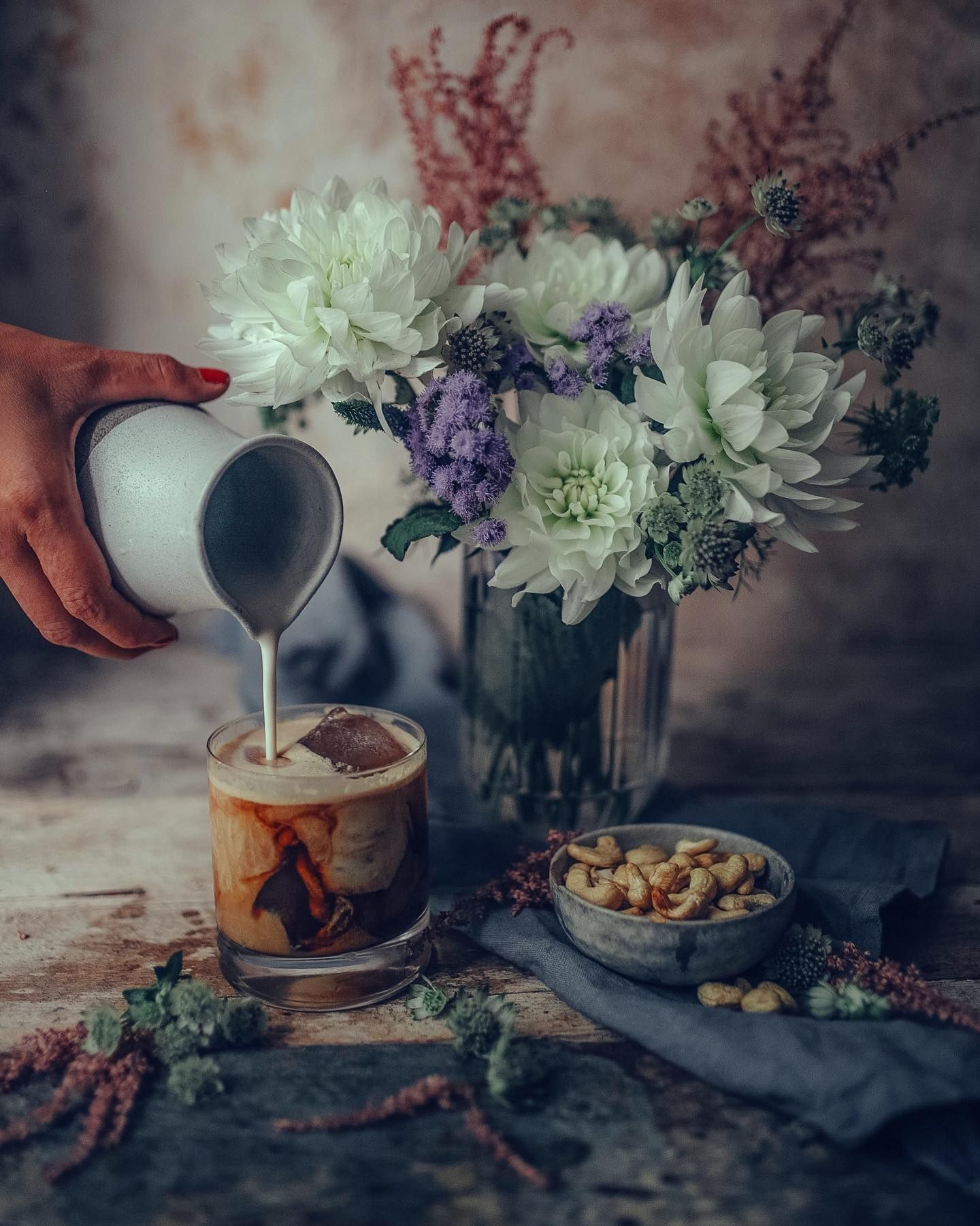 Photo of Iced coffee with homemade cashew milk 👌🏻 . __ #ezgipolat #stilllife #coffe…