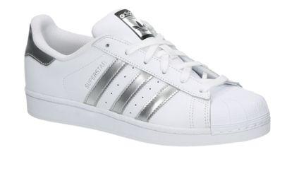 adidas superstar wit met grijs