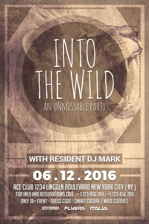 Wild Party Free PSD Flyer Template -    freepsdflyer wild - free templates flyer