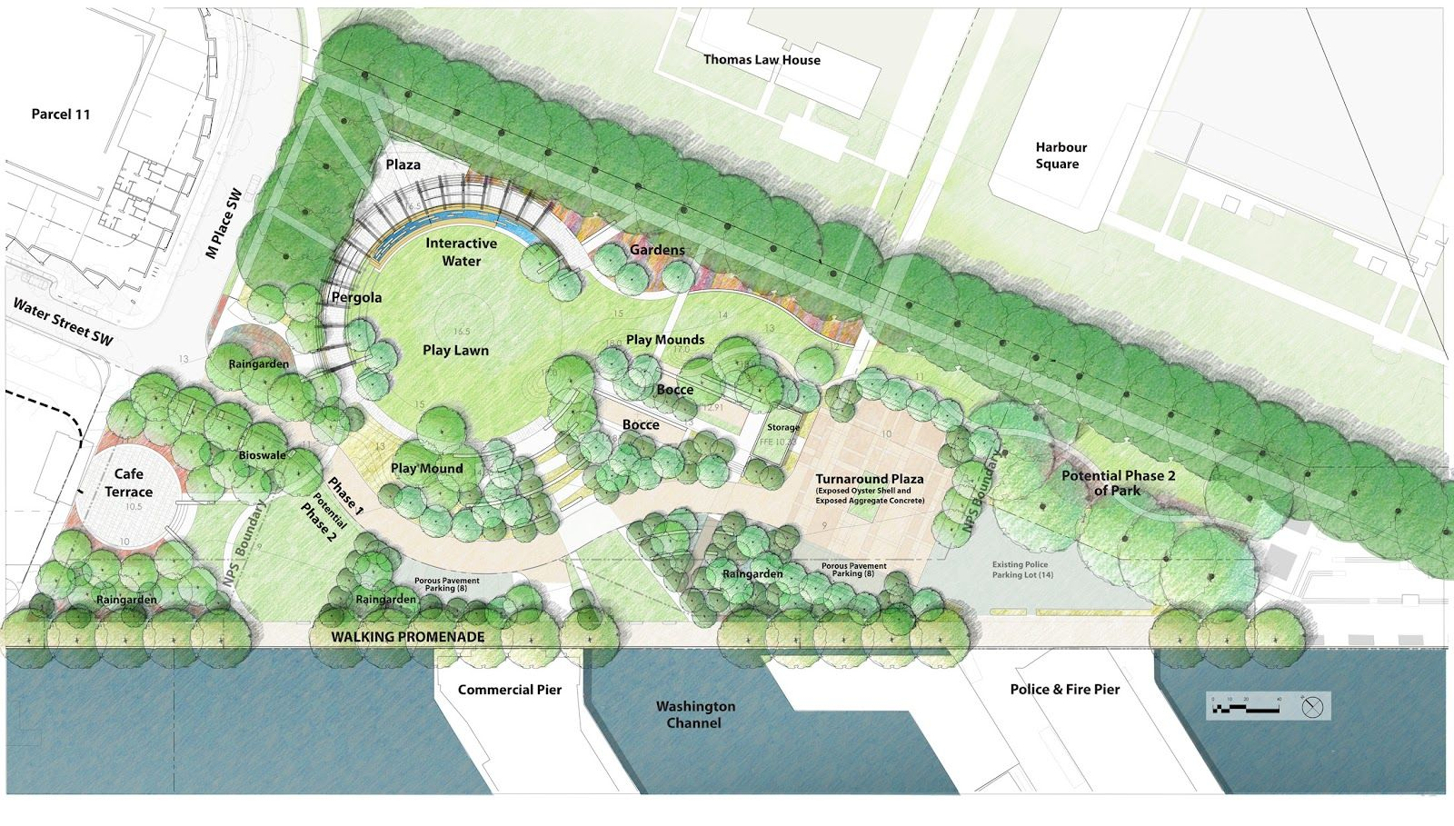 Southwest the little quadrant that could parcel 11 and for Waterfront landscape design