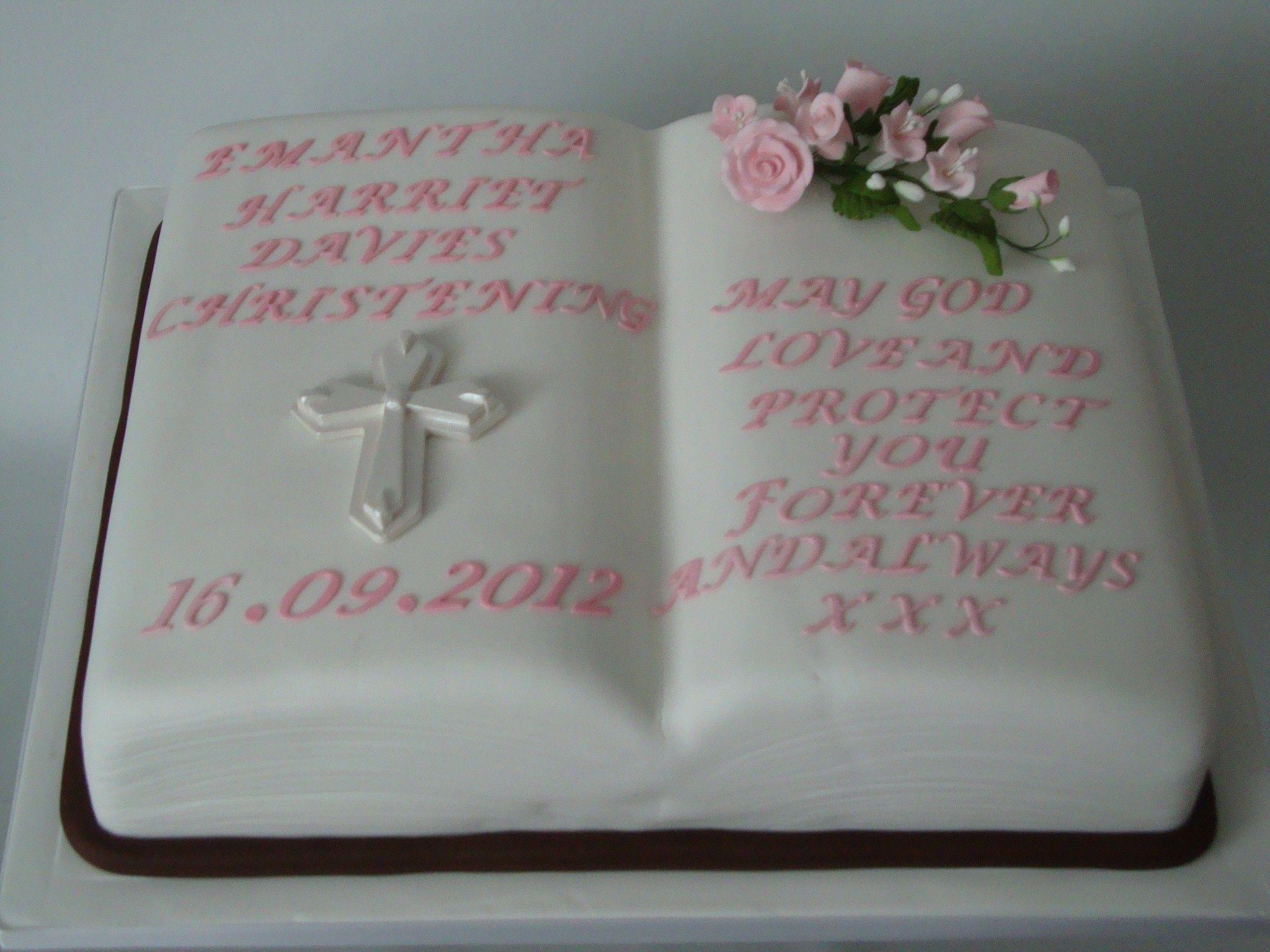 baptism bible cakes for girls pink bible christening cake