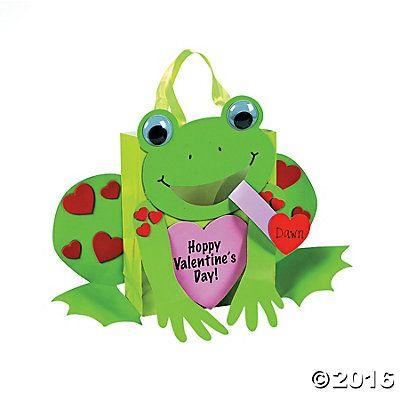 Frog Card Holder Paper Bag Craft Kit  Valentines Day  Pinterest