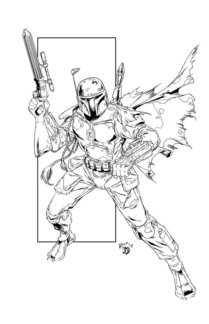 Boba Fett sketch Star wars travel, Star wars jango fett