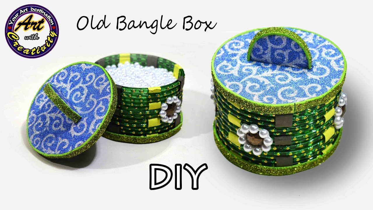 Best out of waste | How to make storage box from old waste bangles ...