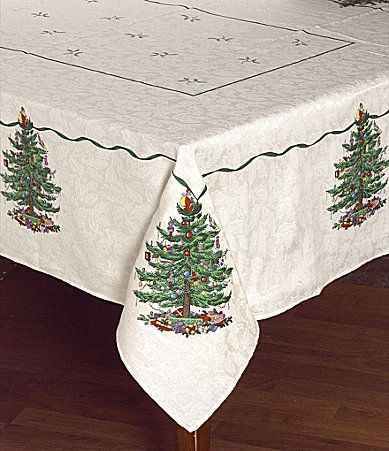 Spode Christmas Tree Table Linens #Dillards Table linens