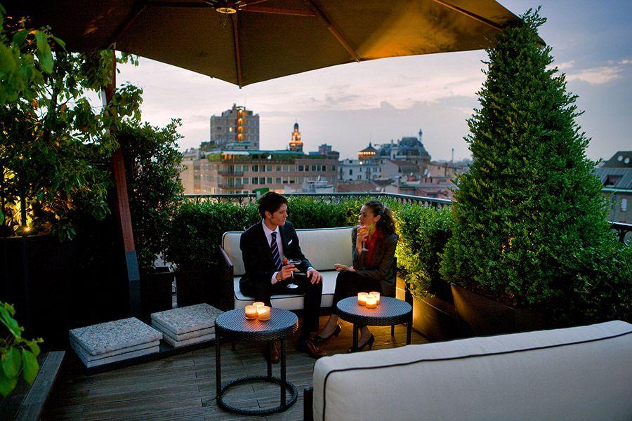 Sky Terrace Milan Rooftop Bar Terrace Restaurant
