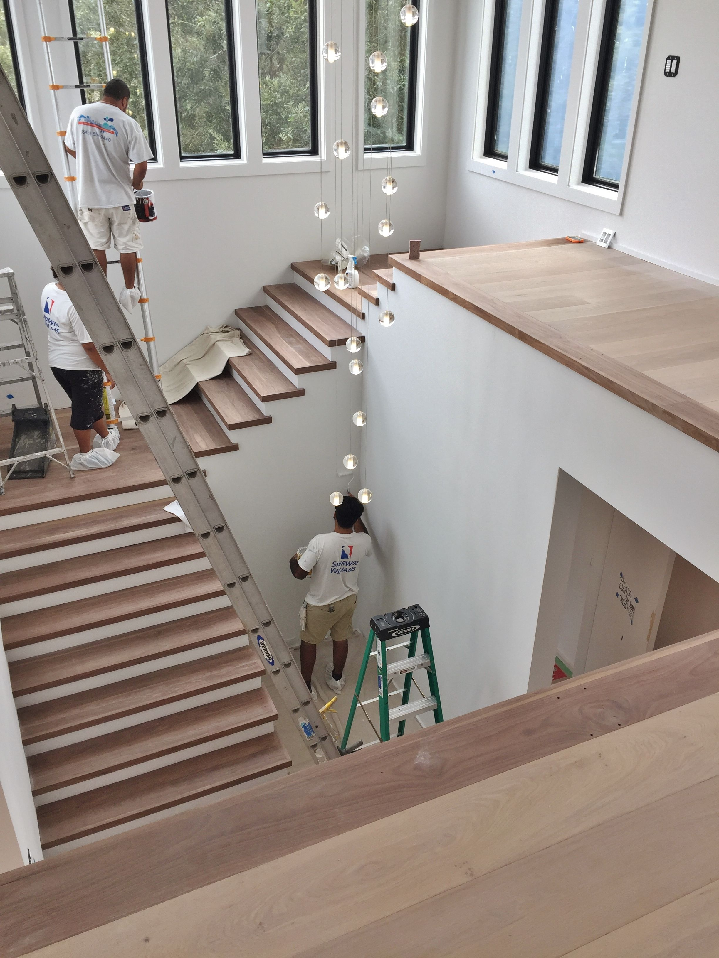 Best Engineered White Oak With Red Oak Stair Treads And Border 400 x 300