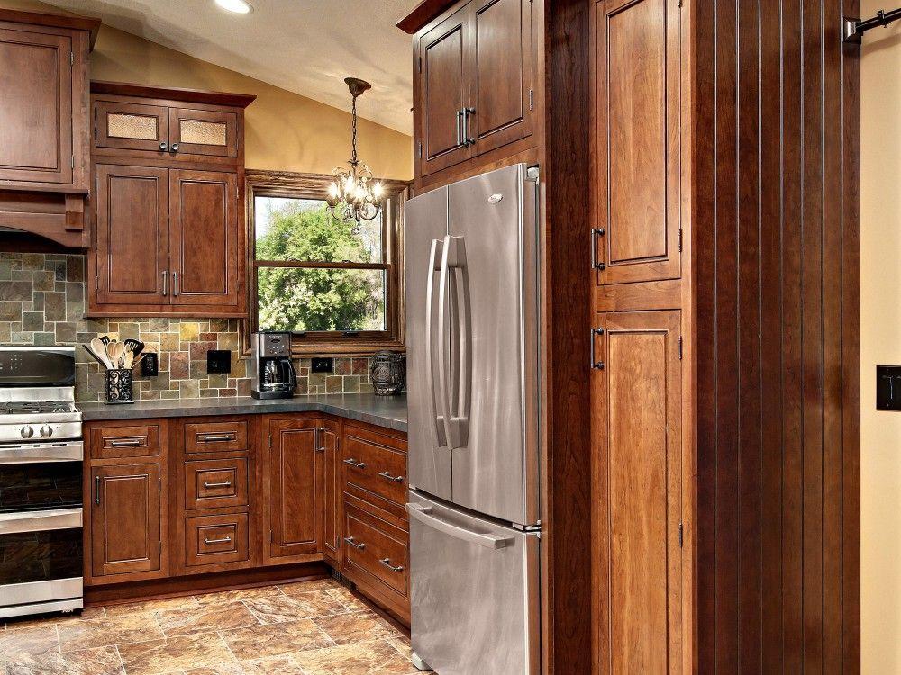 Marvelous Minnesota Kitchen Remodeling Project Features CliqStudios Fairmont Cherry  Russet Cabinets
