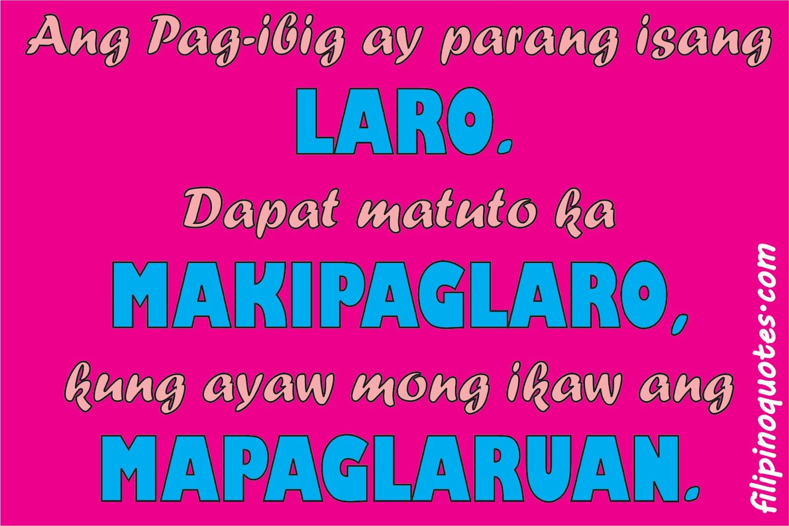 Quotes About Love Life Tagalog Version