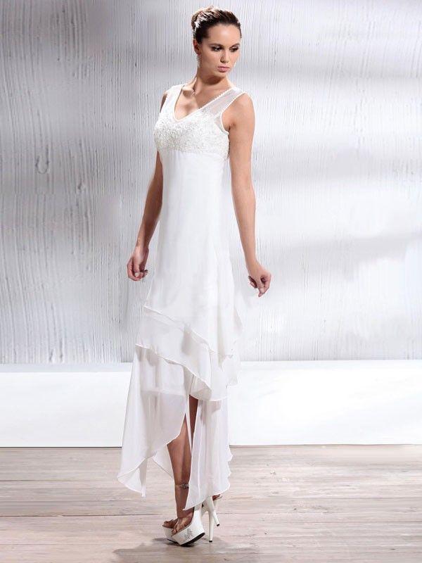 Chiffon Tea Length Bridesmaid Dresses - Ocodea.com