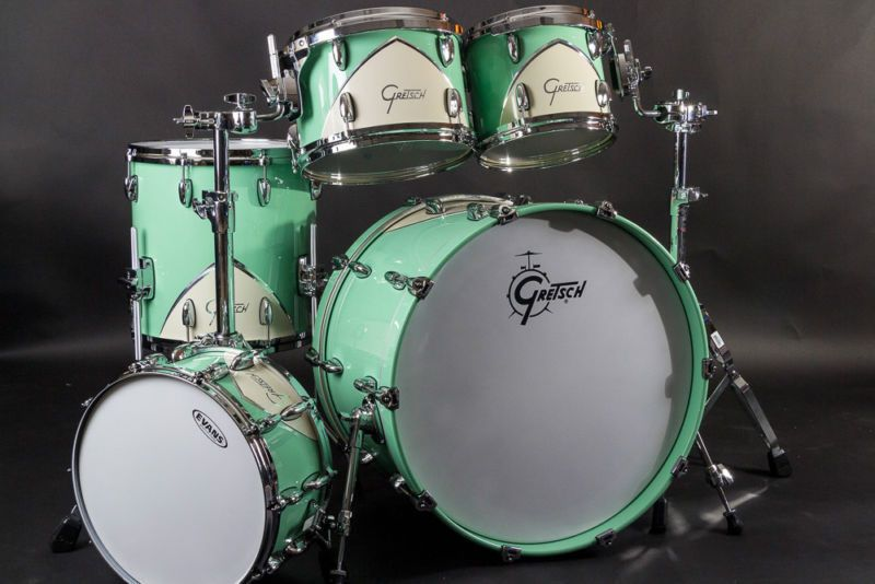 rare gretsch renown 39 57 kit in seafoam green exotic drum finish in 2019 gretsch drums. Black Bedroom Furniture Sets. Home Design Ideas