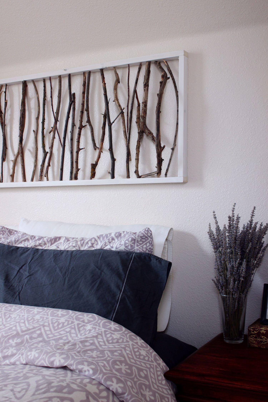 Diy Branch Art Headboard Diy Wall Decor For Bedroom Bedroom Art