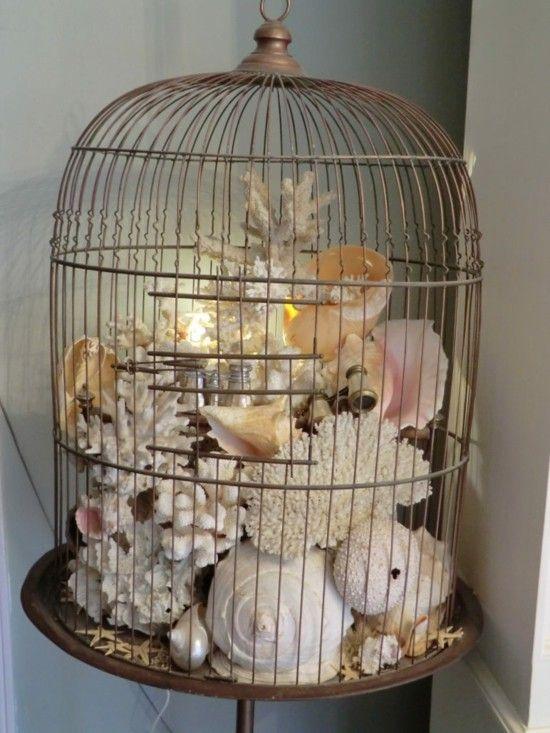 70 Vogelkäfig Deko Ideen, die romantische Nostalgie verströmen