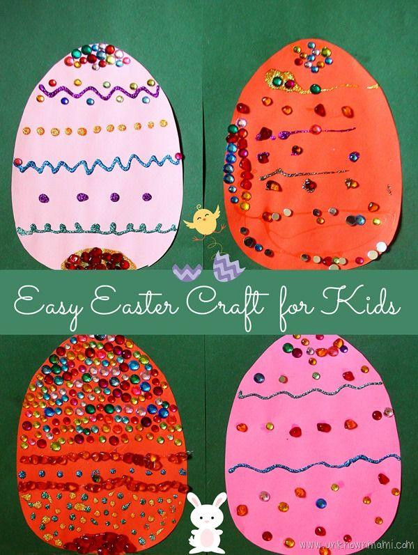 Diy Easy Easter Craft For Kids Easy Easter Crafts Construction
