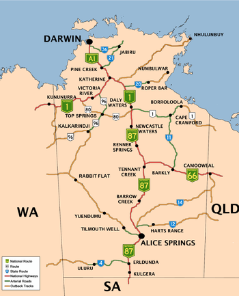 Map Of South Australia And Northern Territory.The Northern Territory Was Founded In 1911 Excised From South
