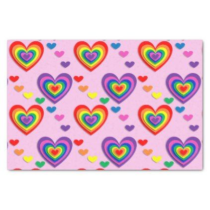 Rainbow hearts tissue paper | Romantic weddings, Romantic and ...