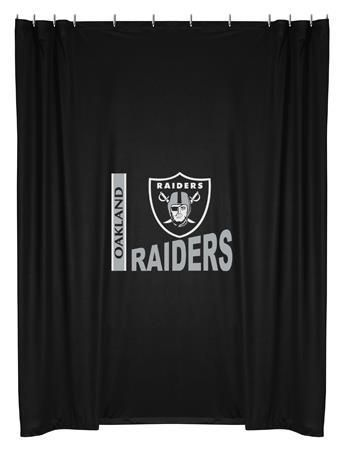 Shower Curtain Raiders Oakland Raiders Nfl Oakland Raiders