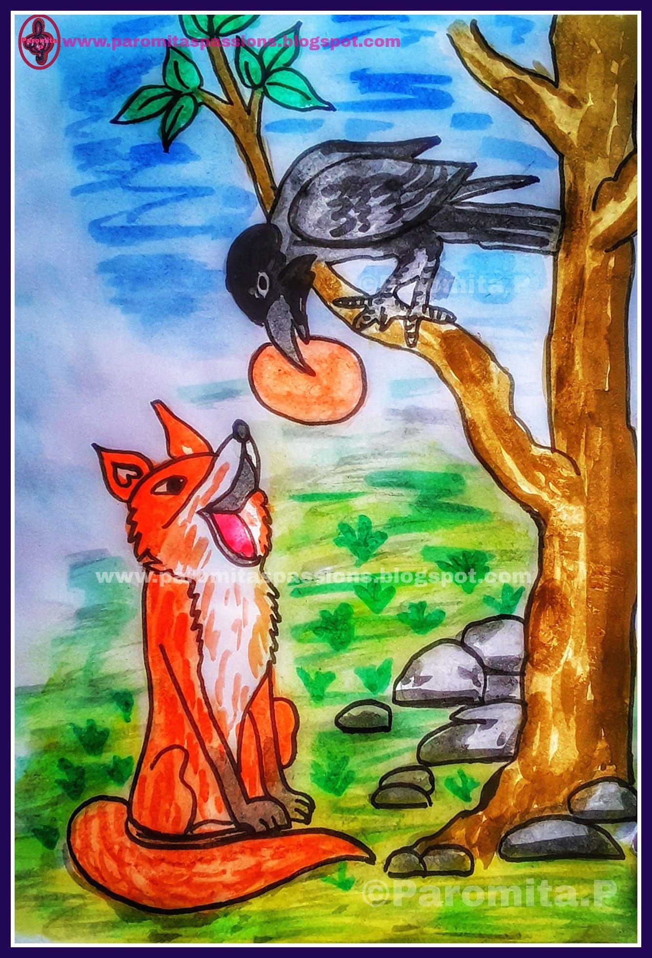 Hindi Story - Foolish Crow and Cunning Fox | Paromita's Stories