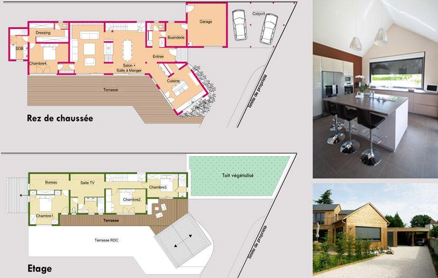 plan de maison bois