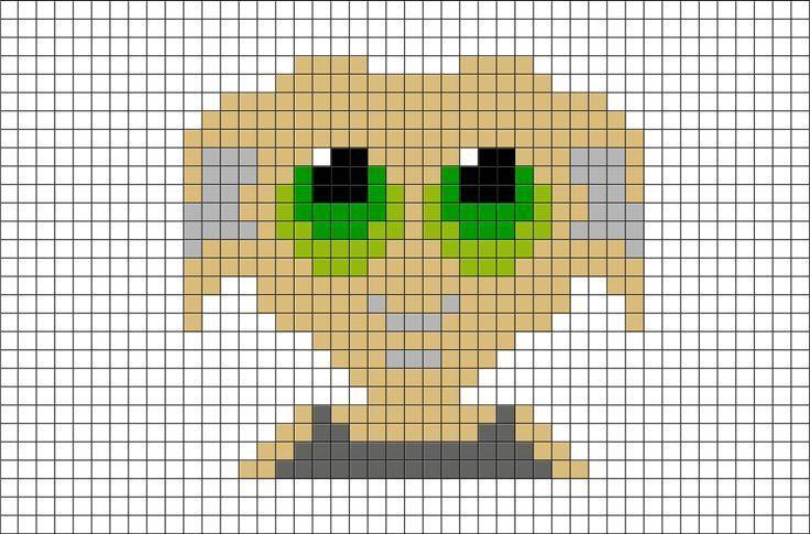 Harry Potter Dobby Pixel Art From Brikbook Com Harrypotter Dobby Houseelf El Art In 2020 Dobby Harry Potter Bugelperlen Vorlagen Bugelperlen Bilder