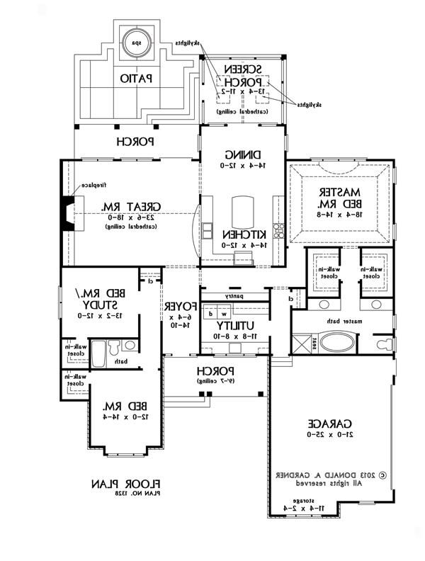 first floor plan of the bosworth - house plan number 1328 | carolyn