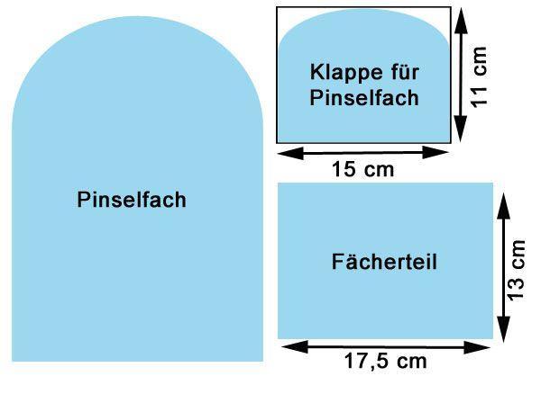 Photo of Adventskalender 2015 – Tür 17: Aufklappbare Kosmetiktasche mit Pinselfach Teil 1 – Westfalenstoffe-Blog