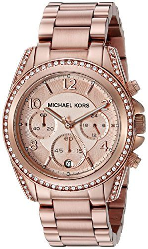 Michael Kors Ladies Watch with Rose Gold Bracelet andRose Gold Dial The  Sterling Silver Com 3ec77120318