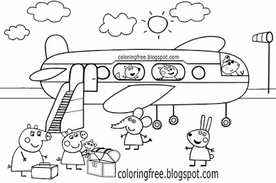 Peppa Pig Airplane Coloring Pages Peppa Pig Coloring Pages Airplane Coloring Pages Peppa Pig Colouring
