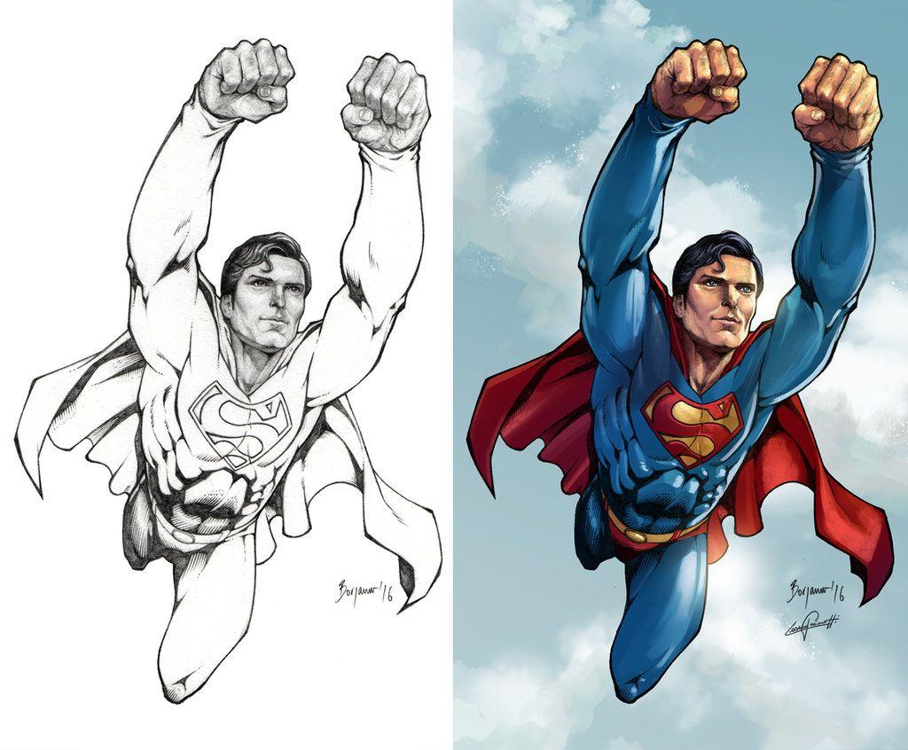 Superman 1978 Christopher Reeve Color Badass Drawings Superman Christopher Reeve