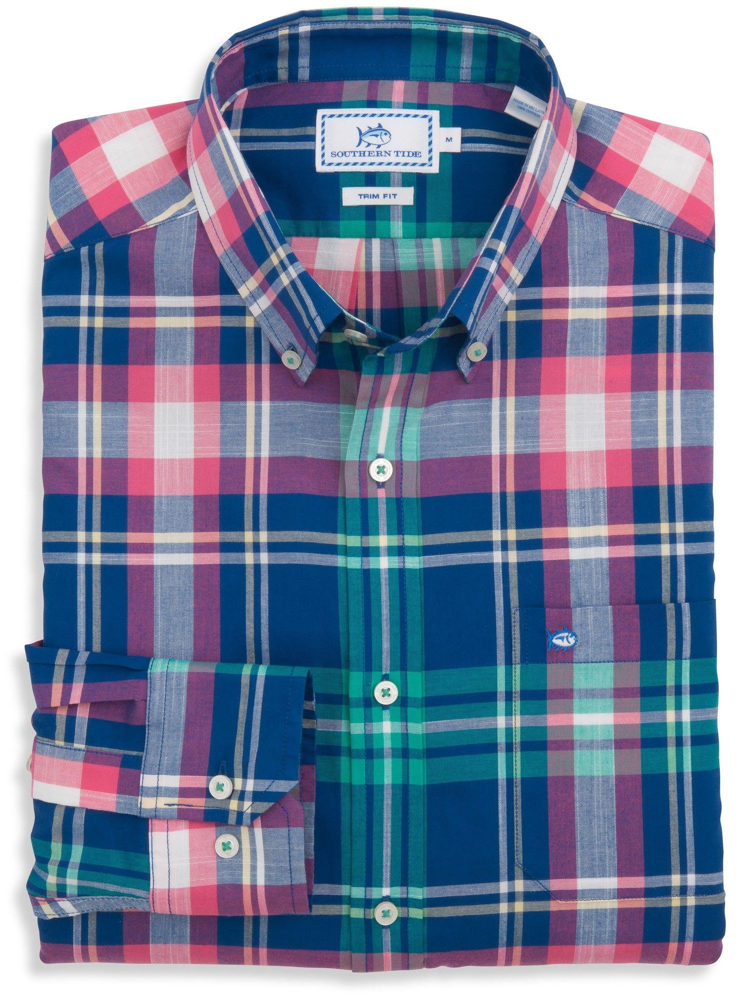 Flannel shirt men outfit  Legare Plaid Sport Shirt  Southern Tide  Plaids  Pinterest