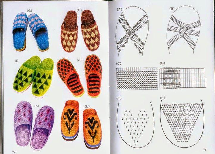 Fantásticas pantuflas tejidas con dos agujas | Zapatillas tejidas ...