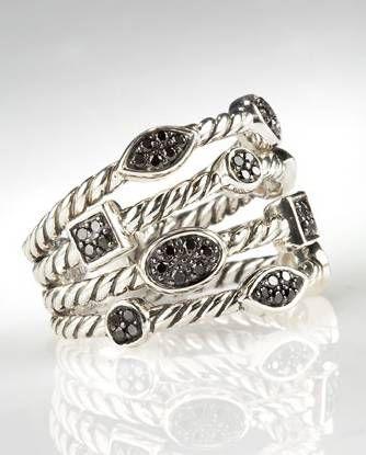 Replica Jewelry David Yurman Jewelry Sterling Silver Confetti Ring