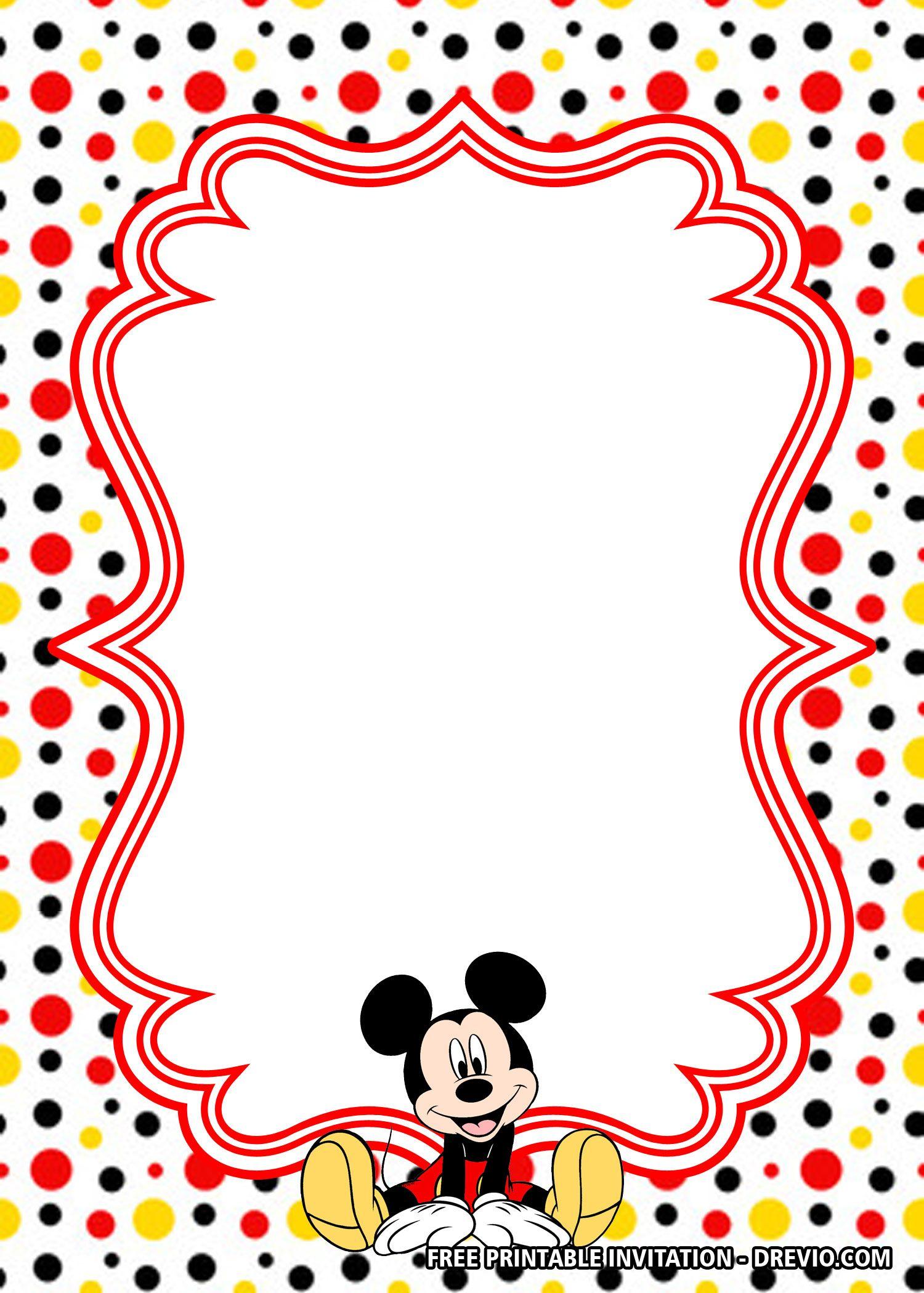 Free Polkadot Mickey Mouse Invitation Templates Mickey Mouse Birthday Invitations Mickey Mouse Invitations Mickey Mouse Invitation