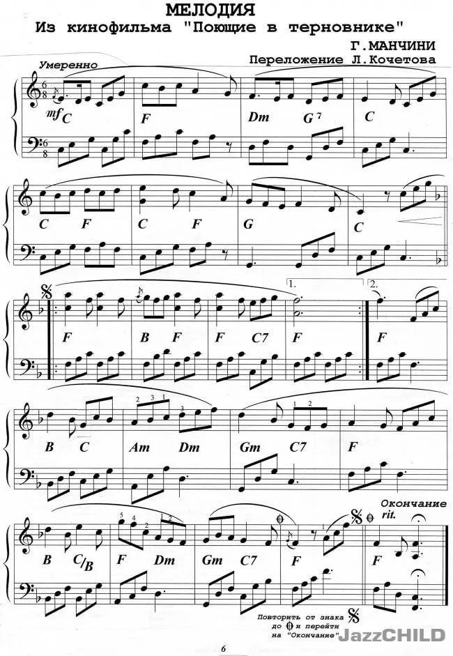 лучшие ноты для фортепиано картинки педагог небольшая