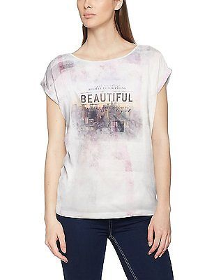 12 Creme Placed Print 02e2 S Oliver Women S 14704324020 T Shirt T Shirts For Women S Oliver Women