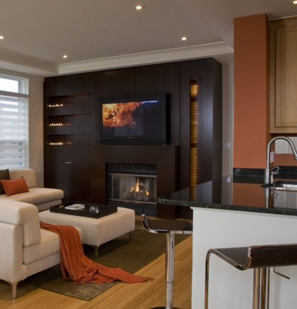Contemporary Living Room Design Classy Built In Bars Next To Fireplaces  Ideas For Contemporary Design Inspiration