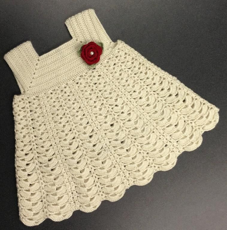 Cream Sunday Dress Crochet ♪ ♪ ... #inspiration_diy GB | motifler ...
