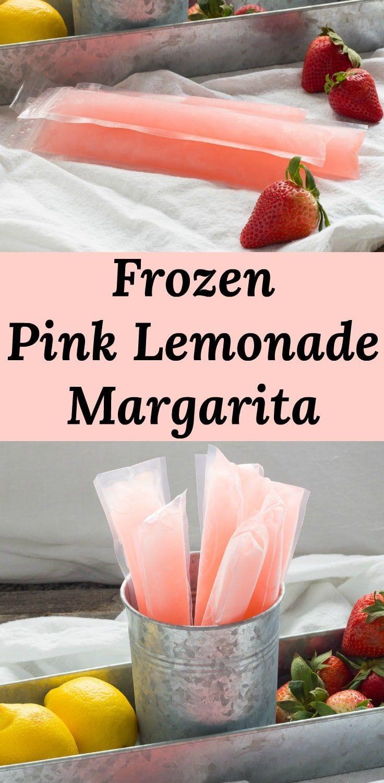 Pink Lemonade Margarita Ice Pops #pinklemonade