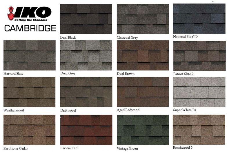Iko Cabridge Colors Shingle Colors Roof Shingle Colors Architectural Shingles