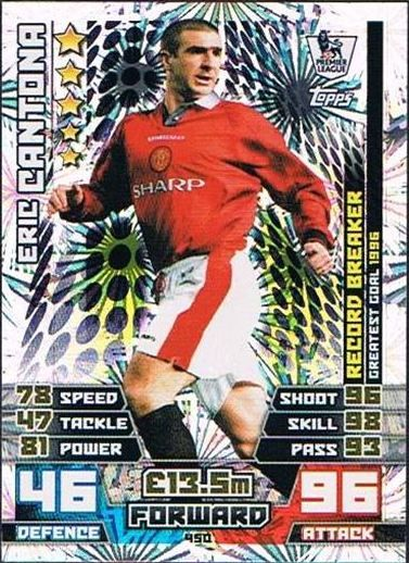 Match Attax 2014 2015 Record Breakers Eric Cantona Manchester United Football Club Eric Cantona Manchester United Football