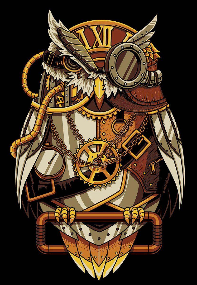 5D Diamond Painting Mechanical Owl Paint with Diamonds Art Crystal Craft Decor