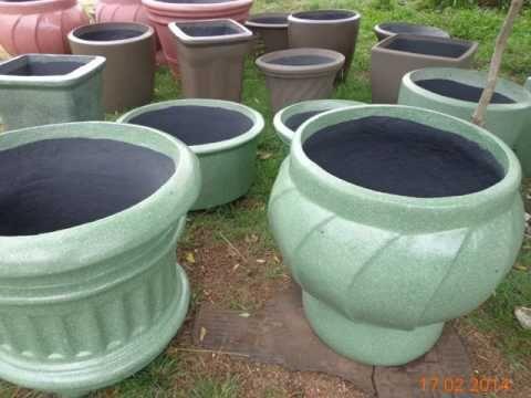 Como fazer pinturas especiais em vasos de ceramica, argila e cimento. - YouTube